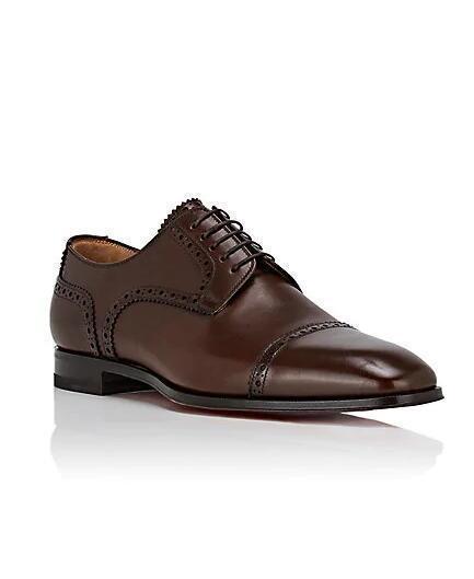 Les plus populaires Gentleman Sneaker Red Bottom Shoes cousin Charles Flat Brown, Mocassins en cuir noir Chaussures Nouveau Parti conception robe de mariée