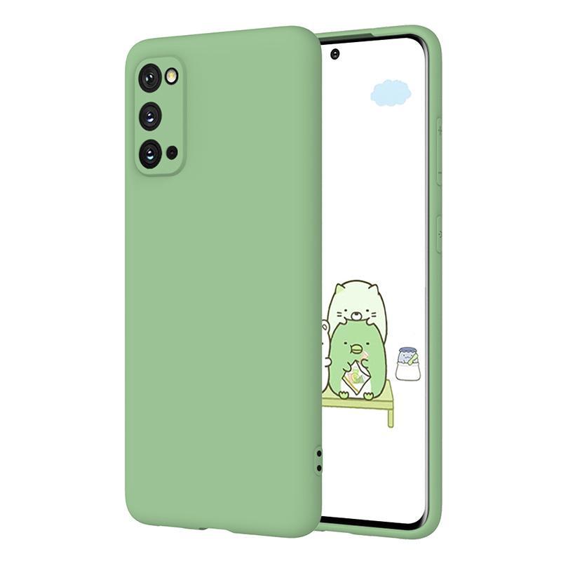 Caso molle di TPU Phone con protezione dello schermo per Samsung S20 plus ultra A71 A51 per iPhone Pro 11 MAX XS XR SE 2