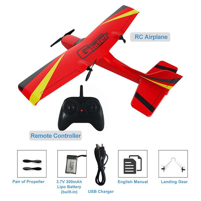 Avião sem fio 2.4G RC Airplanes EPP espuma Construído Gyro Glider Plane Rádio-Controlado avião Aircraft Air Toy para Kid Boy