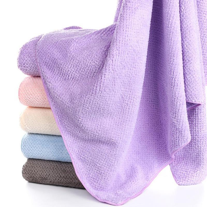 Serviette de séchage rapide Microfibre cheveux Serviettes de bain cadeau Serviette de bain Épaississement séchage rapide Absorbent Serviette de bain Blanket