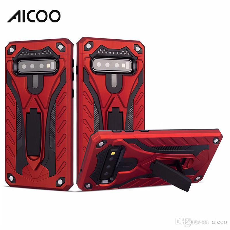 Aicoo Tampa híbrido de telefone Armadura Caso Kickstand para iPhone 11 Pro Max Samsung Nota 10 S10 A30 A50 LG ZTE MOTO OPP