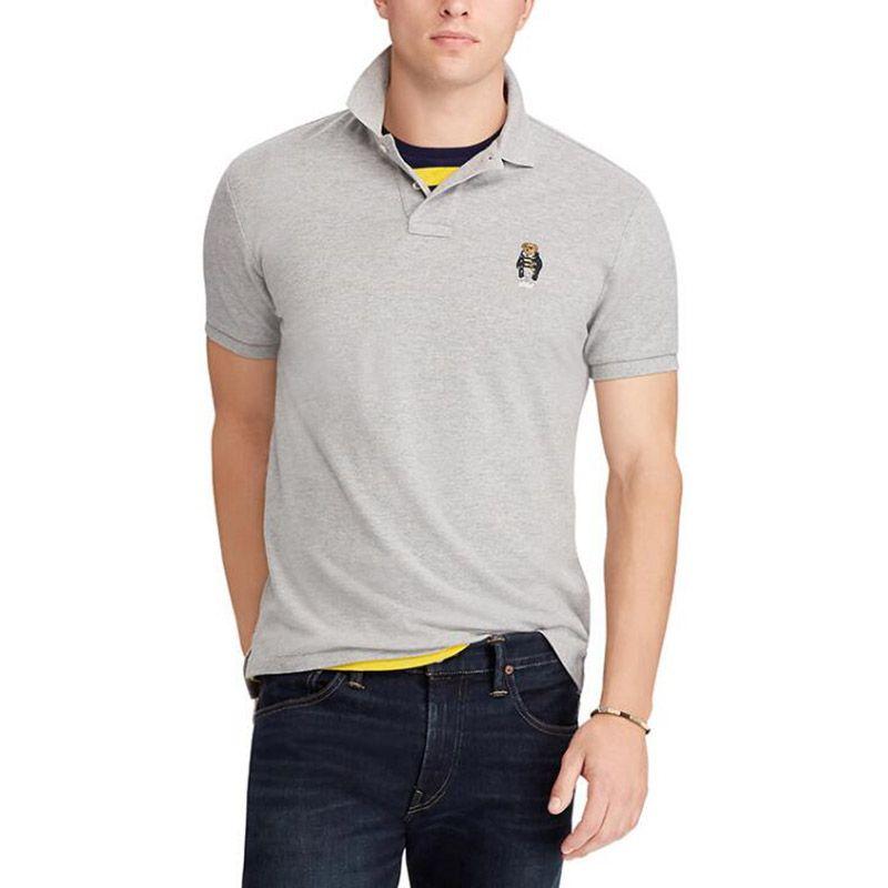 Hot Mens Design Polo Shirts Men Summer Tops Casual T Shirts For Men Bear Embroidery Polo Shirt Short Sleeve Polo Shirt
