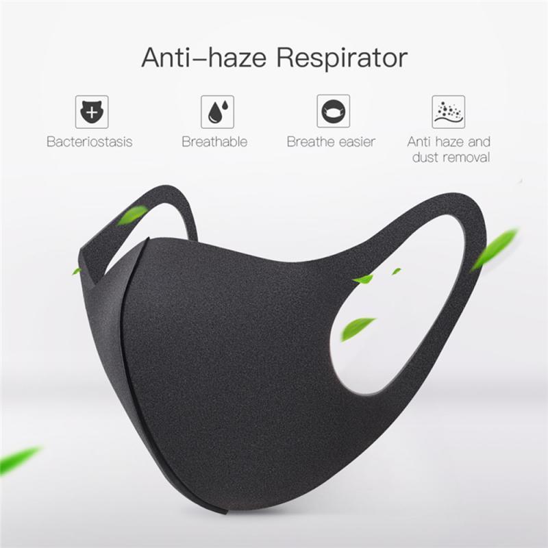 Máscara de negro a prueba de polvo Boca Cara unisex boca Máscaras Máscara Anti polución y reutilizable boca cara cubierta caliente de la venta