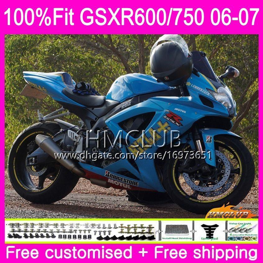 حقن لسوزوكي GSX R600 GSX-R750 GSXR-600 GSXR600 06 07 الهيكل العلوي 6HM.122