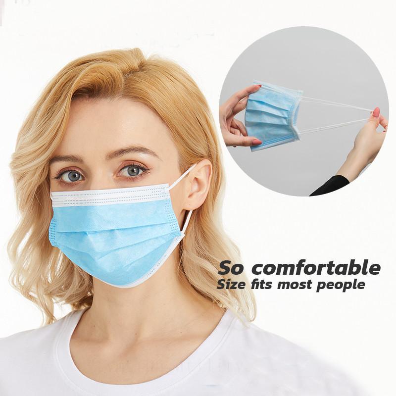 Ну и защита! Одноразовые нетканые Антипылевые защитные маски для рта и носа защитные ушные мягкие маски для взрослых