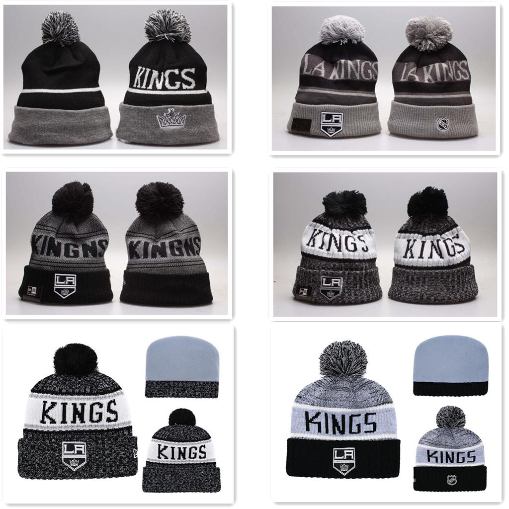 Los Angeles K i n g s Hot Sale Brand Designer Skull Caps Fashion Winter Spring Sports Beanies Casual Knitted Hats wholesale