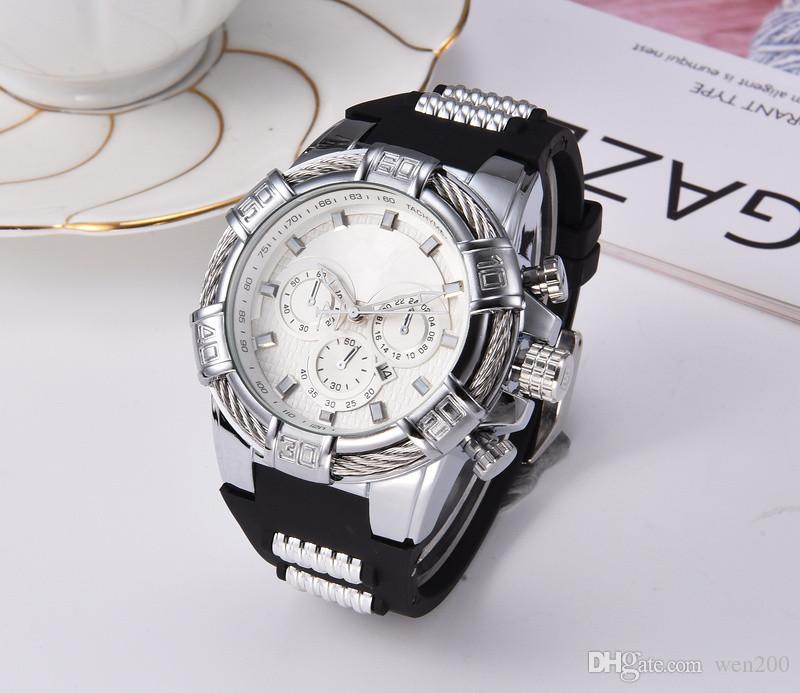 moda di lusso per il tempo libero Nuovo sport della vigilanza guarda gli uomini casuali del quarzo di modo di orologi da polso relogies regalo