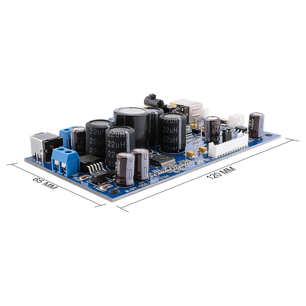 Freeshipping датчика цифровой усилитель мощности звука Усилители совета с PCM2704 Audio Decoder Коаксиальный оптоволоконной USB вход