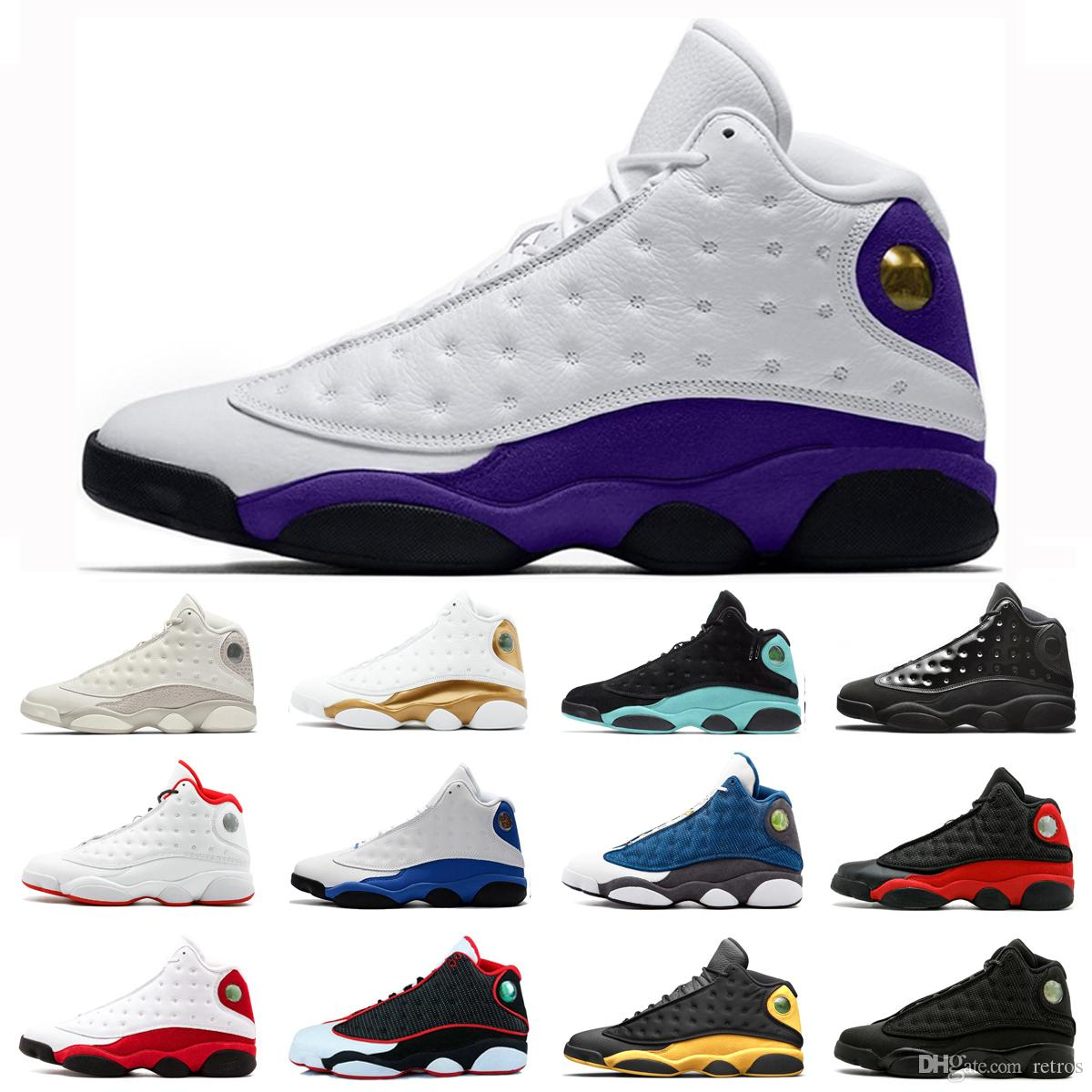 Hot Sale Court purple men Baksetball shoes 13 13s Hyper Royal He Got Name Flint Chicago Cap and Gown Black Cat Trainer Sneakers