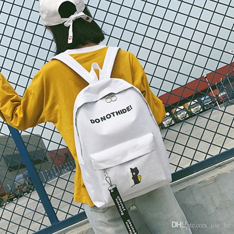2019 nueva mochila mochilas impresos personalizados de las mujeres ocasionales de viaje de lona para el regreso a la escuela chica bolsas