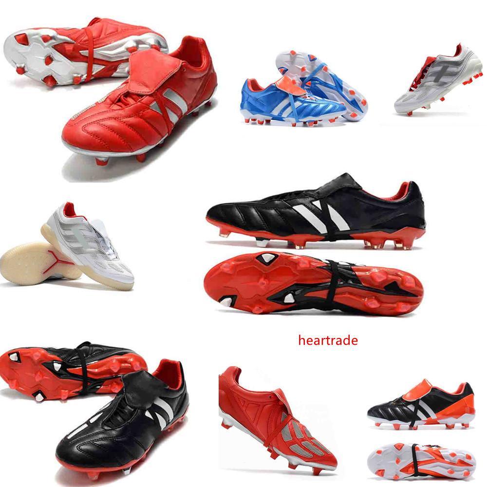 crampons de football d'origine 6 PREDATOR chaussures de football MANIA Crampons chaussures de football mania prédateur de précision Accelerator DB David Beckham FG Or