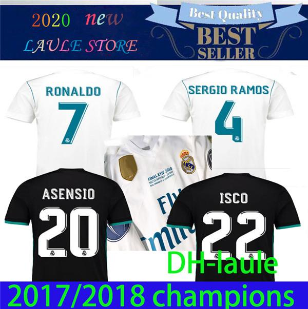 2017 2018 Real Madrid jersey de fútbol 17 camiseta de fútbol 18 BALE BENZEMA MODRIC KROOS retro de ISCO Maillot SERGIO RAMOS Camiseta RONALDO