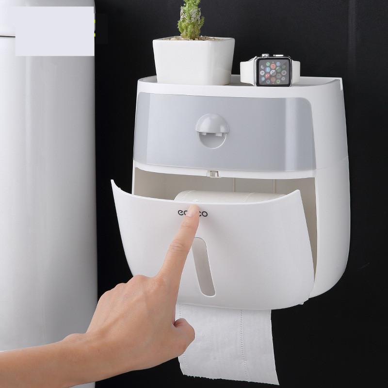 Double Drawer Paper Towel Box Household Creative Multi-functional Practical Waterproof Paper Roll Organization Tissue Holder