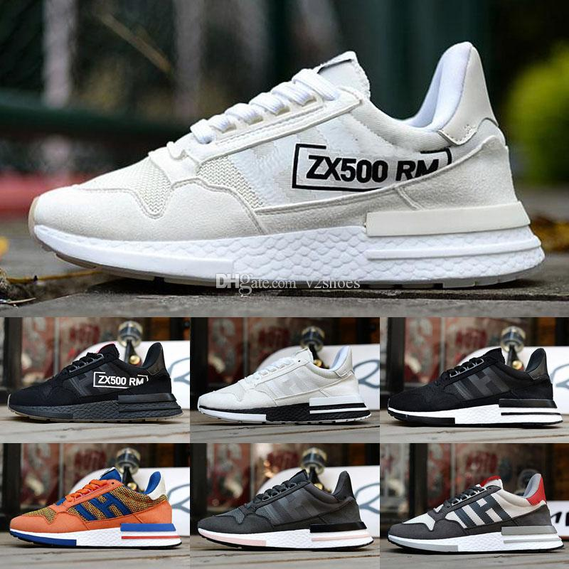2020 New ZX500 OG Mesh respirant véritable cuir Courir Chaussures de sport originaux ZX500 RM Amorti Chaussures
