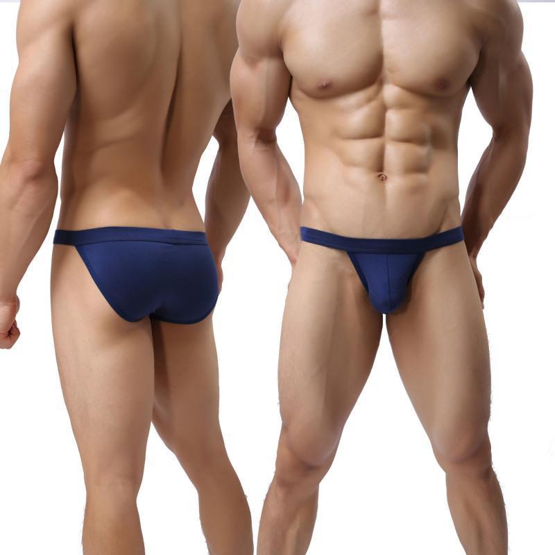 Sexy Sólidos Male Underwear Modal 3XL Tamanho Grande Homem Homossexual Briefs suave cintura baixa Mens Calcinhas Deslize Cueca calzoncillos Cuecas