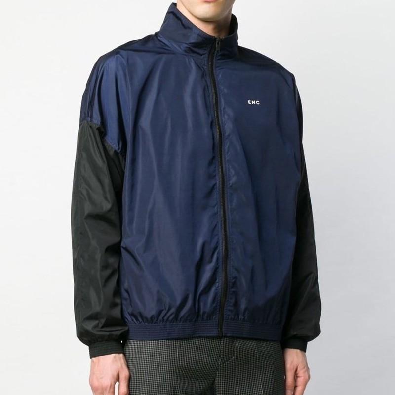 18SS GIV logotipo Color Matching Splice Moda Jacket camisola Mulheres Homens Casal roupa casual solta Rua Hip-hop dos revestimentos de esporte HFYMJK219