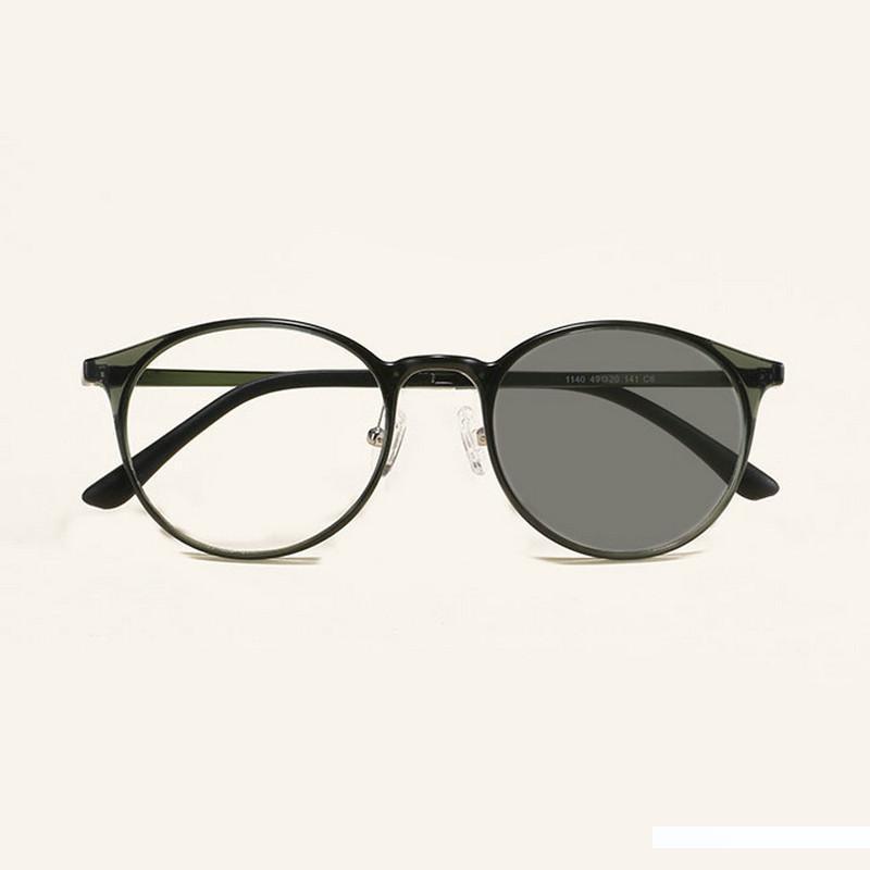 Ultralight koreanische Version von Wolfram Kohlenstoff-Stahl hellgrau Glasrahmen Sonnenbrillen JW