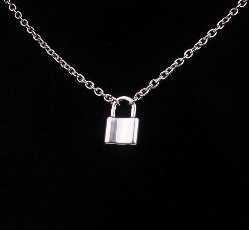 2020 Женщины ювелирных изделий из нержавеющей стали Замок ожерелье панк HipHop рок замок мужчин ожерелье Friendship подарки di067
