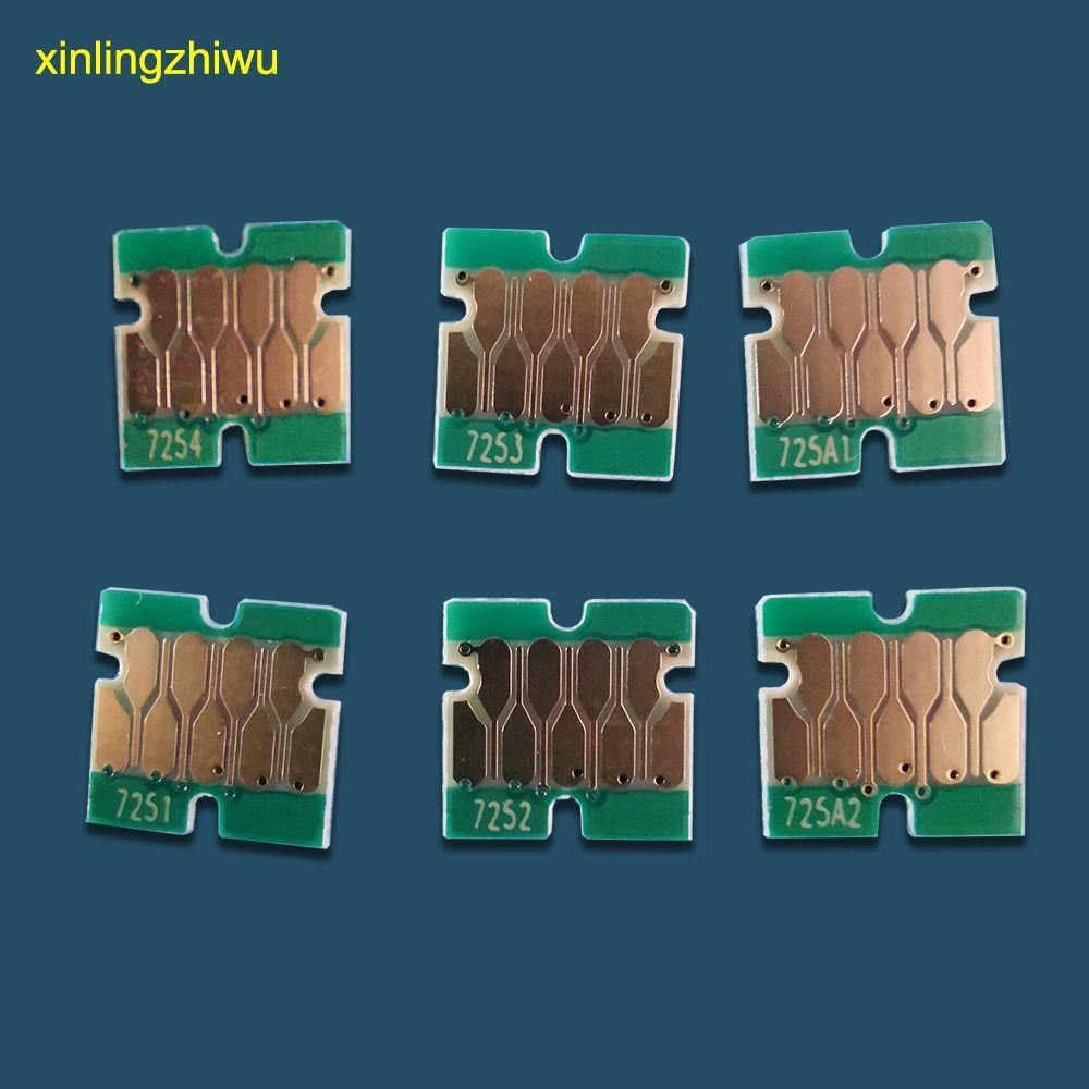 top quanlity T7251- T7254 T725A chip de una vez para impresora Epson prenda SureColor F2000 F2100 F2160 cartucho de tinta