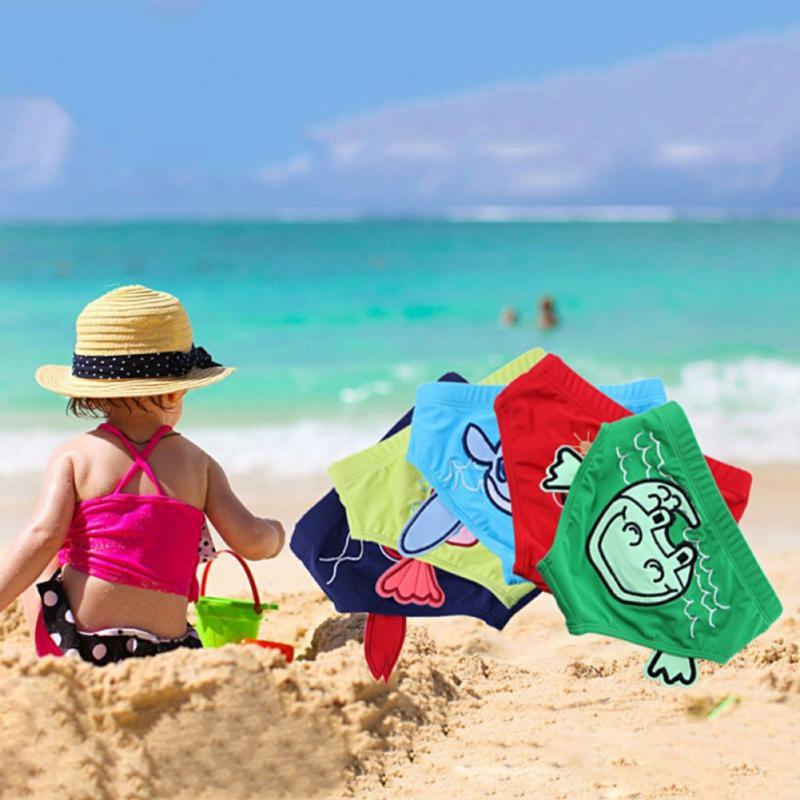 Verão Swim usar shorts meninos Natação Trunks idades 0-9 bebê Kid Boy Criança Swimsuit dos desenhos impressos criança Calção