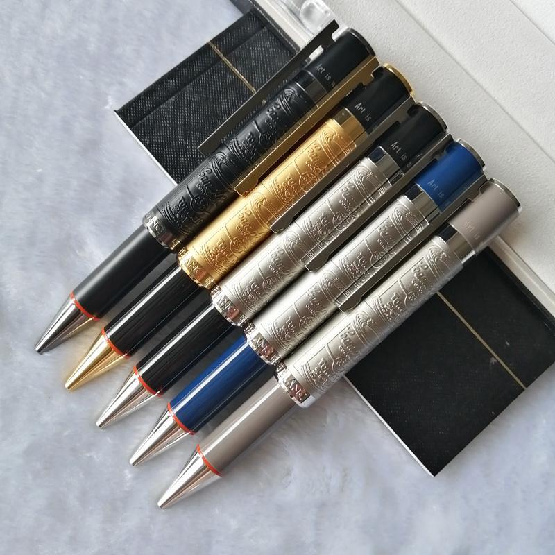 PM Sınırlı Special Edition Ünlü İnsanlar Serisi Andy Warhol rölyefler varil Lüks Tükenmez Kalem + Kol Düğmeleri + Kutu Seti + Hediye Refills + Peluş Kılıfı