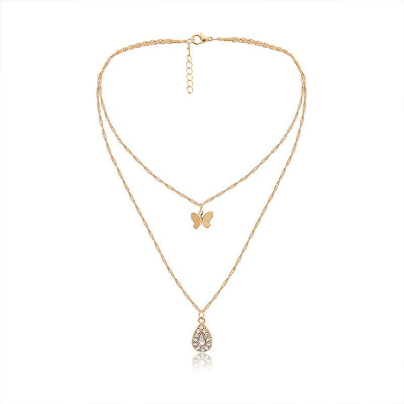 Charm Layer Drop Bling Rhinestone Necklace Silver Collar Wrap Diamond Choker uk
