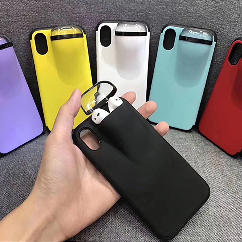 2 en 1 cas pour AirPod pour iPhone 11 Pro Max XS MAX XR 7 8 Plus deux fonctions avec la Police provinciale Box