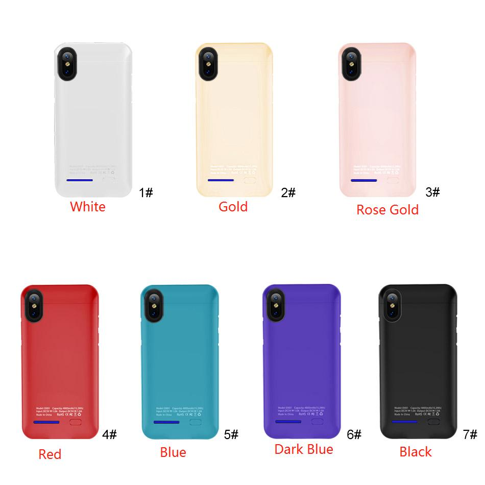 Hot! iPhone X XR XS Max Power bank Battery Case Portable Backup Battery External Rechargeable Cover Case For iPhone 6 7 8 Plus With Package