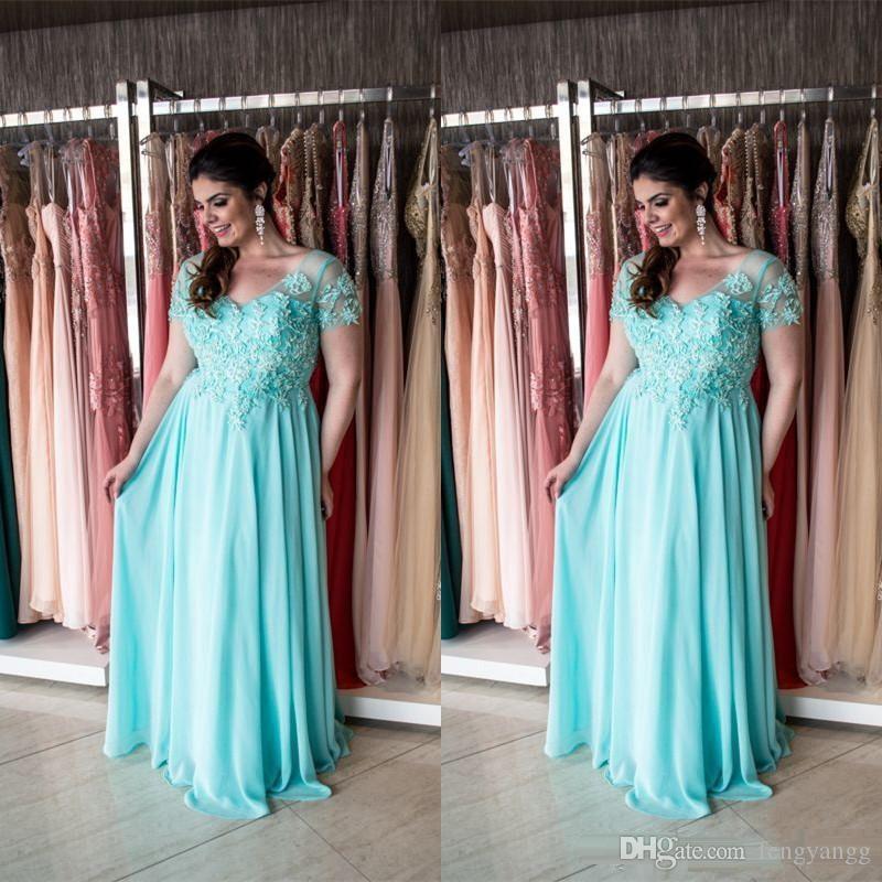 Элегантный с коротким рукавом мать невесты платья кружева Applipues формальные платья партии на заказ плюс размер свадебные платья партии