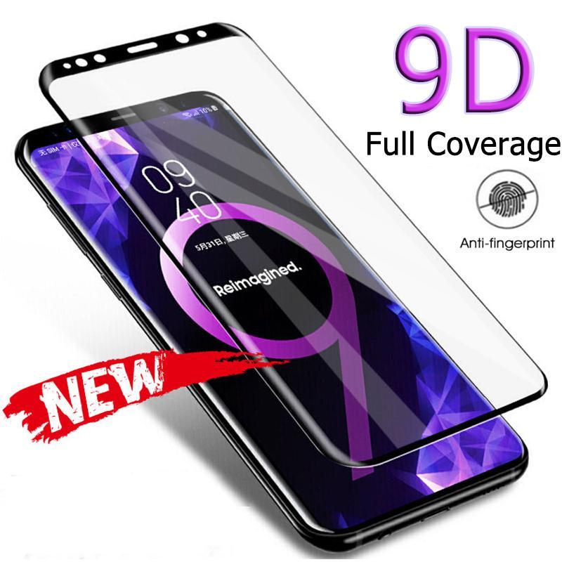 Voll Curved Ausgeglichenes Glas für Samsung Galaxy S8 S9 S10 Plus-Note 8 9 10 Displayschutzglas auf Samsung A70 A40 A50 Glas
