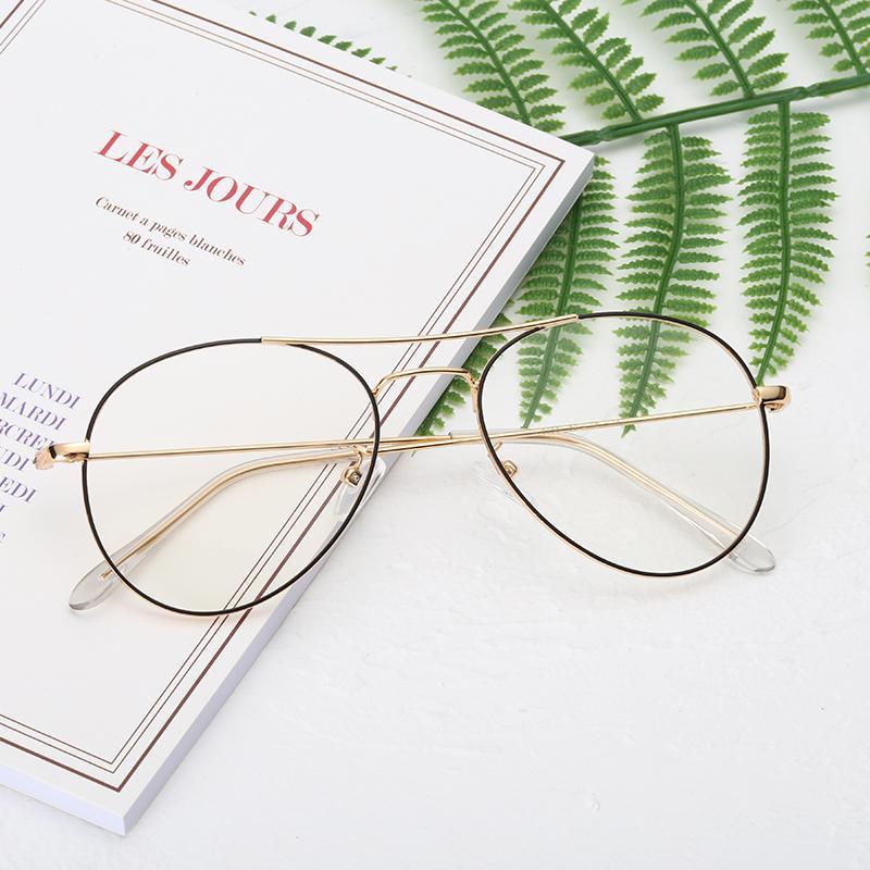 2020 nuevos anti gafas Blu-ray contra Blu sencilla titanio de la moda ray Art Students gafas pueden ser equipados con astigmatismo miopía