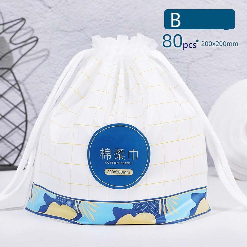 80 Pcs Disposal Face Towel No Woven Fabric Towels Cleaning Face Bathroom Make Up Cloth Dry and Wet Cotton Facial Tissue