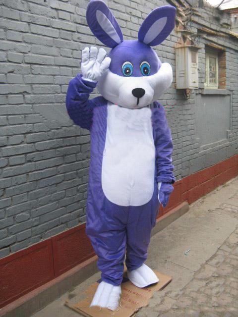 2019 Fabrika doğrudan satış EVA Malzeme Kask Mavi tavşan Maskot Kostümleri Karikatür Giyim reklam kostümleri Cadılar Bayramı Doğum Günü partisi