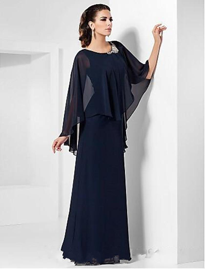 2019 New Formal Evening Military Ball Party Dress Prom Dresses Plus Size  Petite Sheath Column Scoop Floor Length Chiffon With Beading Boho Prom ...
