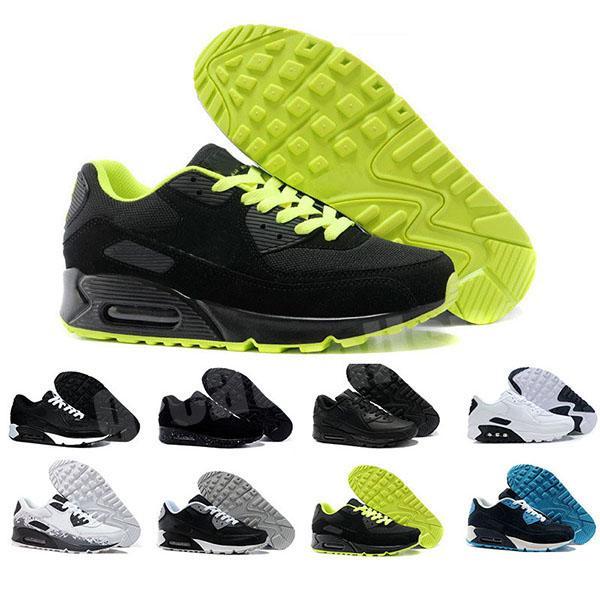 2020 Heiße Männer Turnschuhe Schuhe Klassische 90 Männer und Frau Schuhe Sport Trainer Luftkissen Oberfläche Atmungsaktive Sportschuhe 36-45 G0326