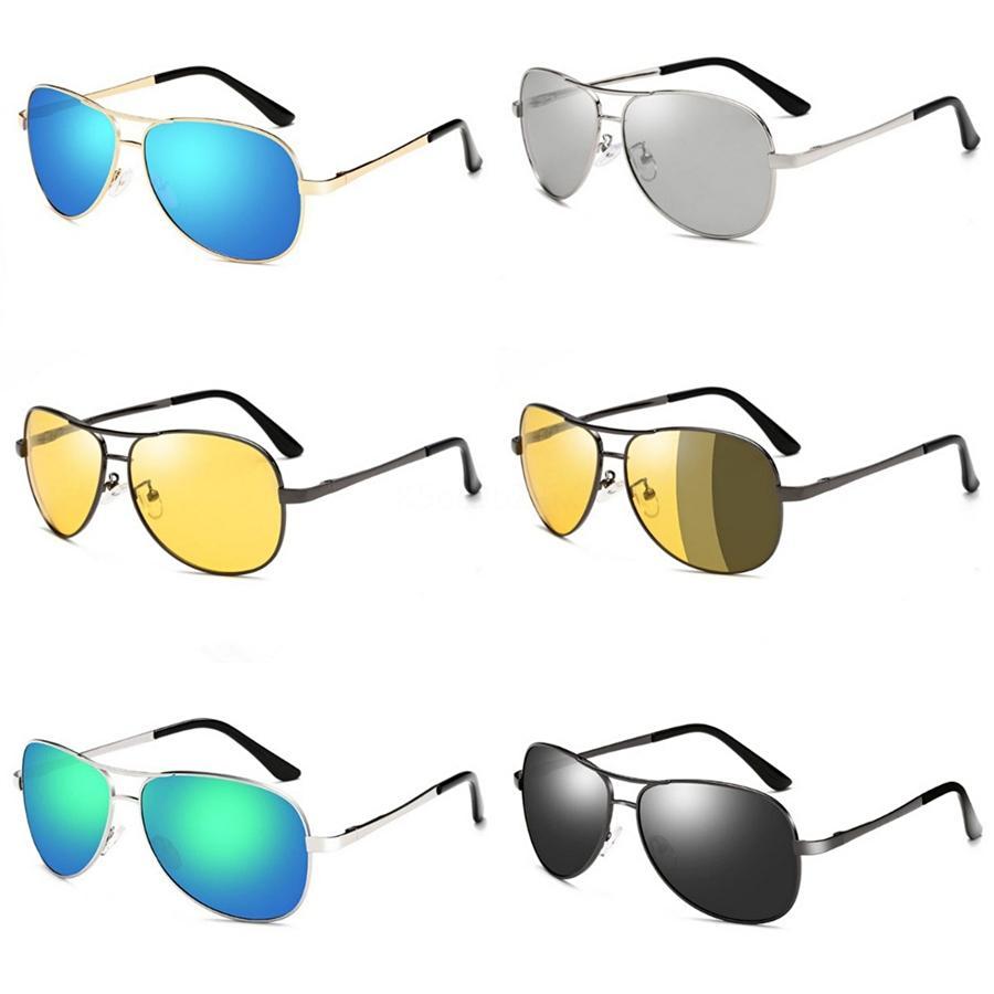 도매-2020 남녀의 HD 노란색 렌즈 구글 선글라스 나이트 비전 고글 자동차 운전 드라이버 안경 안경 UV 차단 # 78533