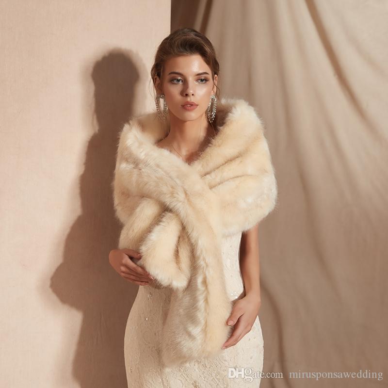PJ18101 recién diseño Wrap Wrap Plus Tize Piel Cape Winter Cálido Piel Shawl 2019 Tamaño de alta calidad Mantón de boda gratis