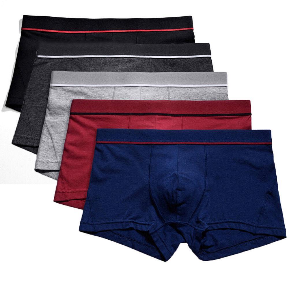 Hommes Sous-vêtements sexy boxers en coton respirant confortable Caleçons pénis Pouch Homme Culotte Cueca Tanga Hommes Shorts