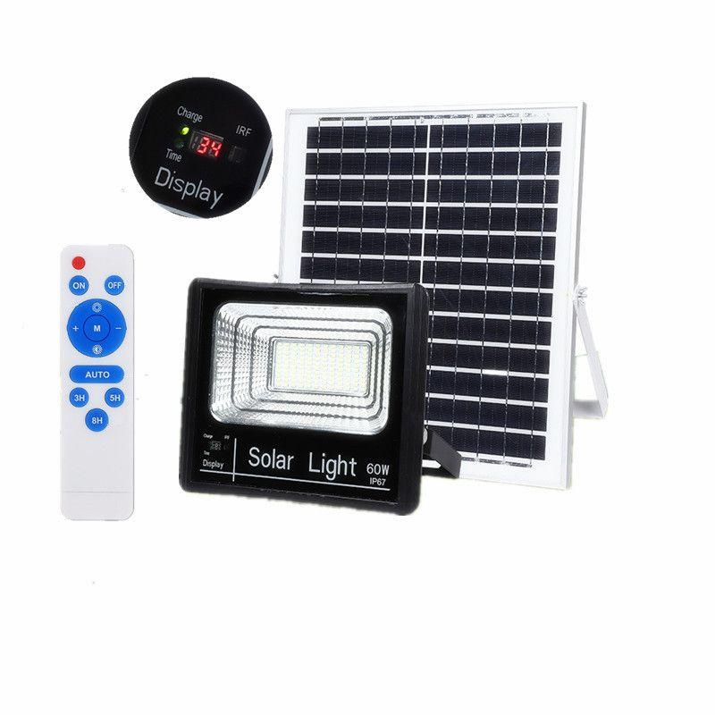 Edison2011 2019 nouvelle version extérieure 25W 45W 65W 125W lampes solaires LED indicateur lumières d'inondation projecteur solaire avec affichage de charge