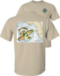 Cerca de la costa del Golfo Mapa Slam de Pesca camiseta
