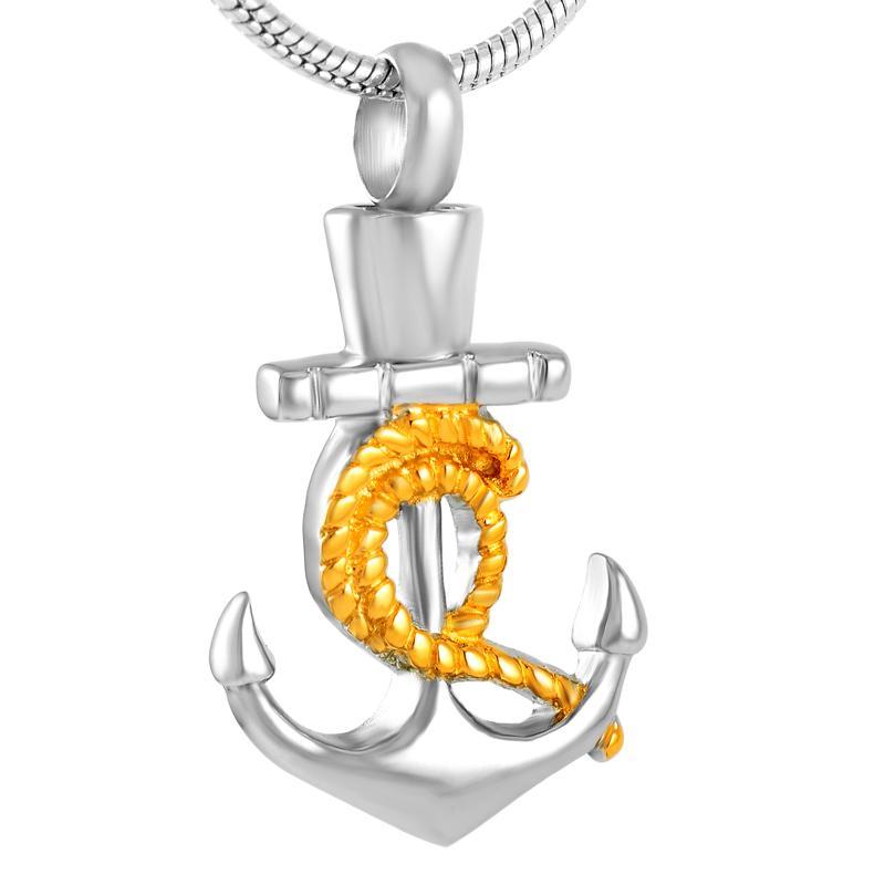 Z267 oro e argento in acciaio inox di cuore Fish Hook cremazione sospensione per i monili di Ashes Urn Keepsake Memorial collana