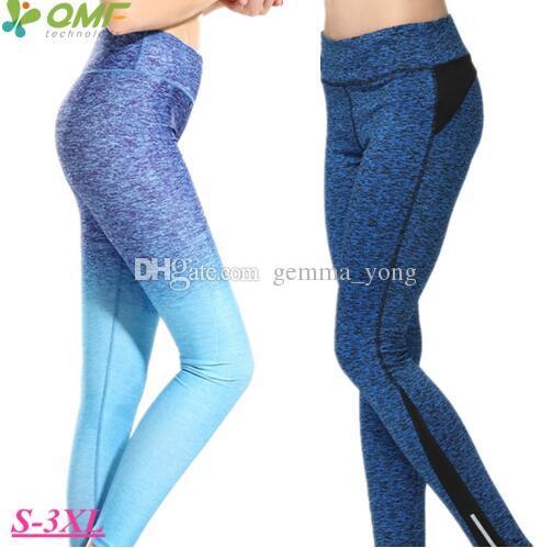 Nefes kuru fit atletik eğitim pantolon elastik sıkıştırma yoga pantolon seksi slim fit koşu skinny tayt kadın artı boyutu