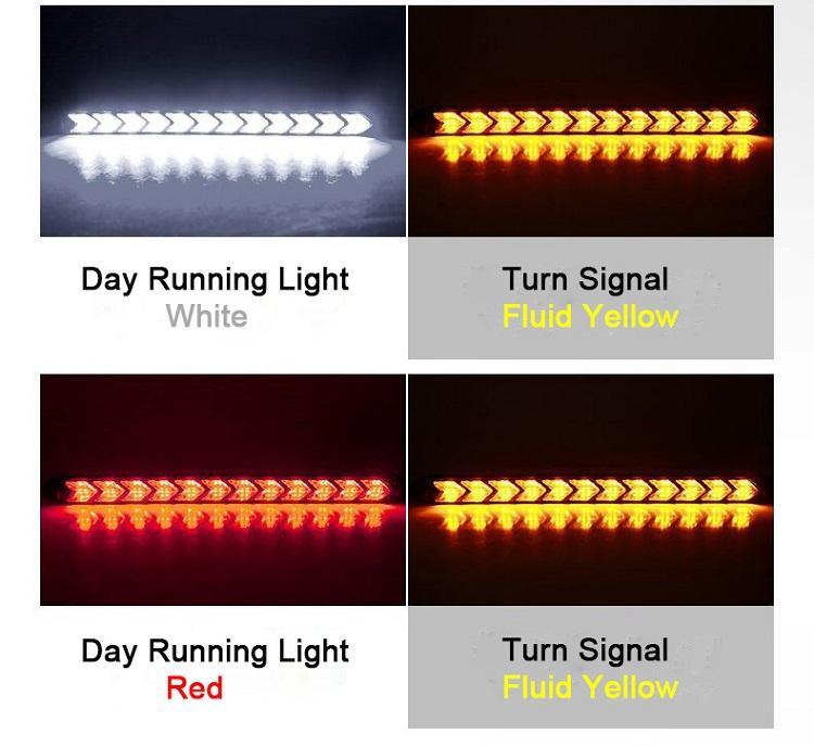 Гибкие светодиодные 3030 светодиодные чипы Стрелка дневного света Дневной свет DRL водонепроницаемый поворотники Fit For Юниверсал Автомобили