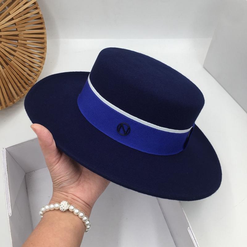 حول مهرج قبعة من الصوف السير النساء في أوروبا والأزياء قبعة المجتمع البريطانية حزب المد الأزرق أعلى مستو