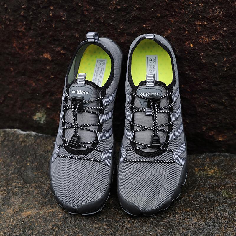 حذاء جديد صيف المياه أحذية رجالية صنادل شاطئ المنبع أكوا رجل سريعة جاف بحر نهر النعال الغوص الجوارب سباحة