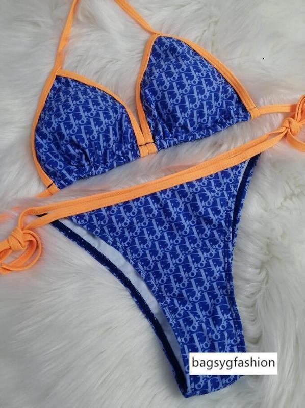 Горячие 2020 новых бестселлера дизайнеры сексуальный купальник с буквами летом бикини пляж износ один цельный купальник для женщин купальник бикини S = XL003