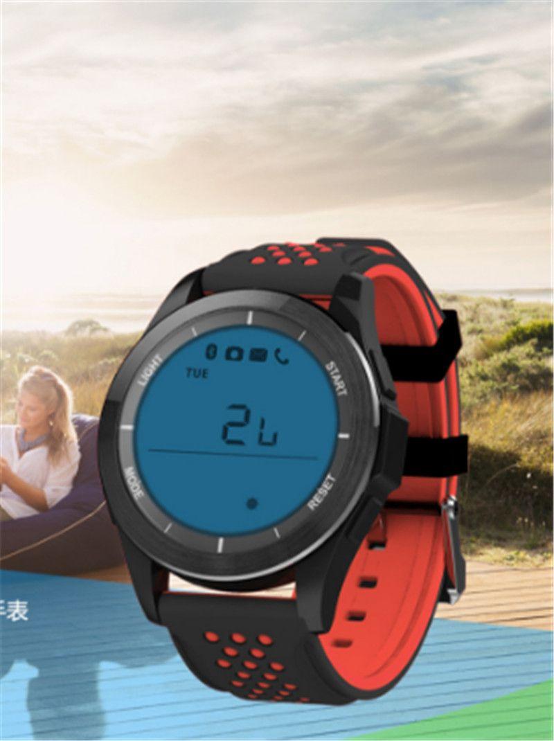 F3 스마트 시계 팔찌 IP68 방수 Smartwatches 야외 모드 피트니스 스포츠 추적기 알림 착용 할 수있는 장치