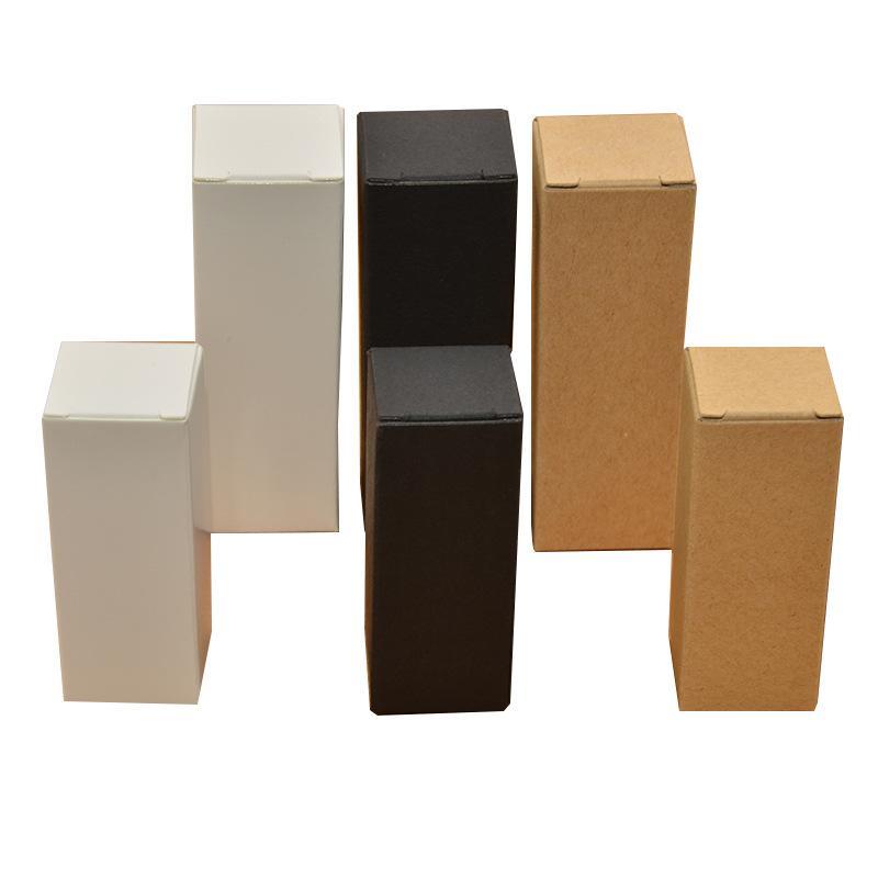 1000pcs Wholesale white black kraft paper box essential oil bottle packaging box cosmetic box 10ml 15ml 30ml 50ml 100ml