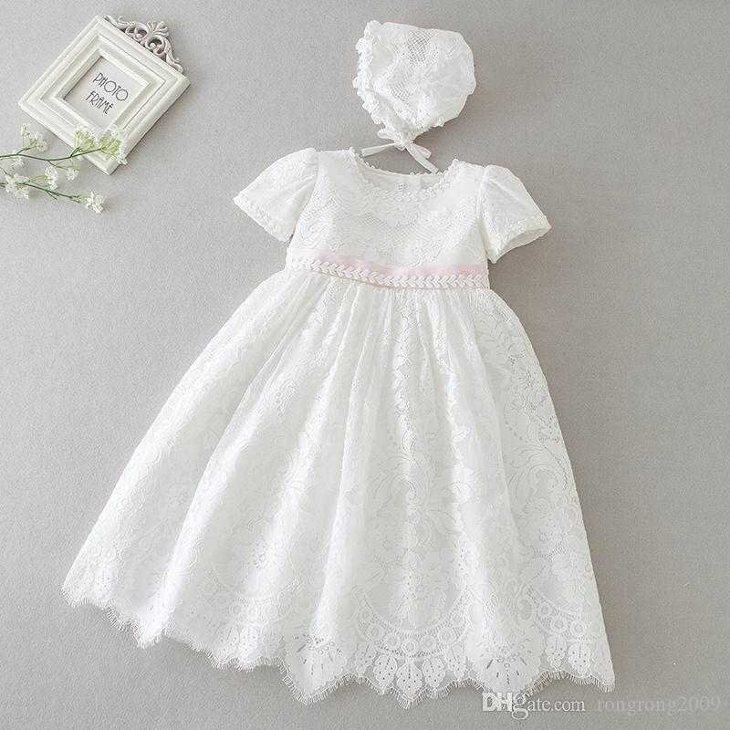 Baby Girl /& Toddler Christening Baptism Dress Gown size 3 to 18 M white