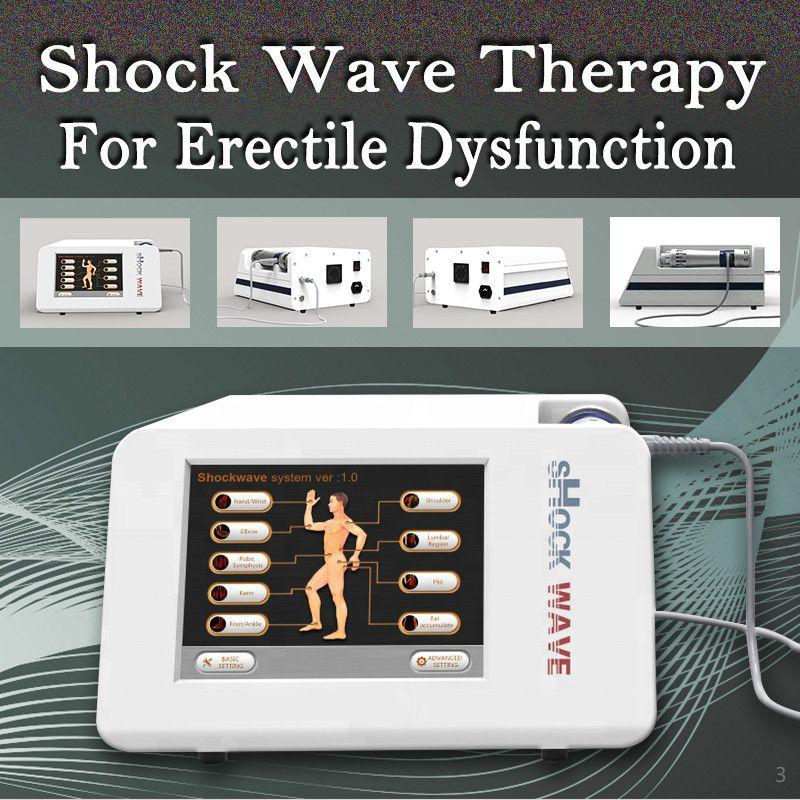 2020 caliente venta de Terapia de choque extracorpórea onda de Protable para la disfunción eréctil demostrada y reducir el dolor corporal y lesiones deportivas